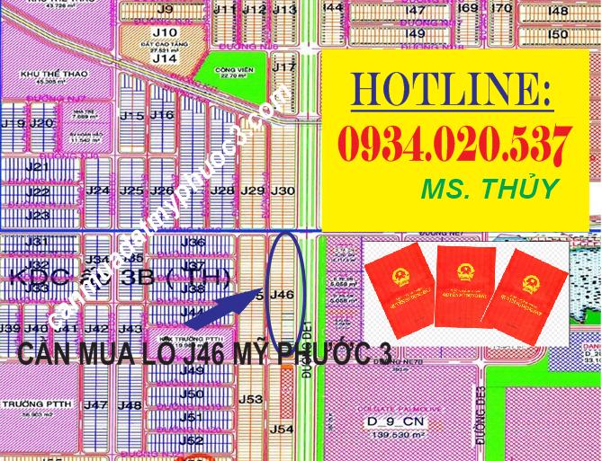 Cần mua Lô J46 Mỹ Phước 3