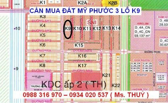 Mua lô K9 Mỹ Phước 3 mua nhanh giá cao
