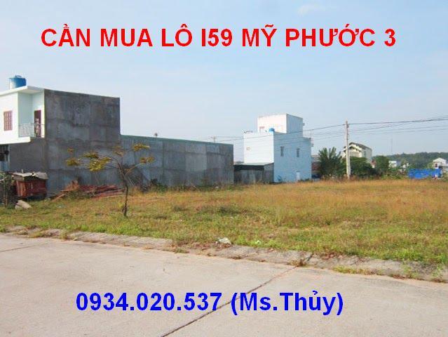 Cần mua lô I59 Mỹ Phước 3 mặt tiền đường giá cao