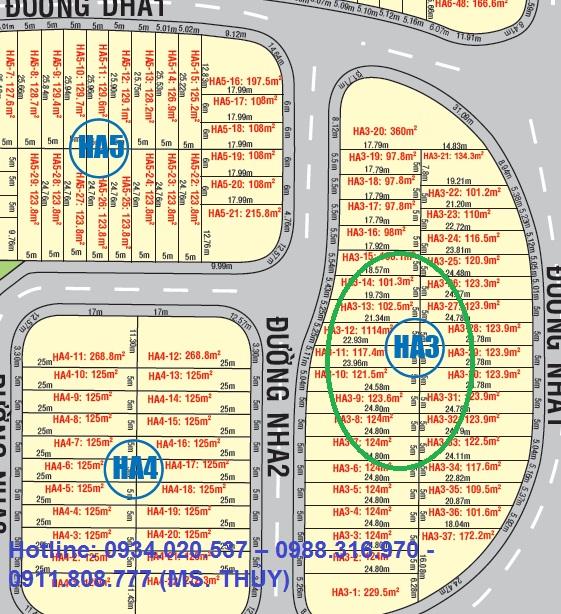 Cần mua lô HA3 dự án golden city Mỹ Phước 3